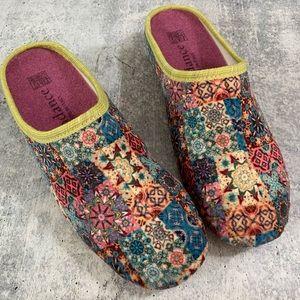 Sundance, 'Log Cabin' patchwork slippers, 38, US 8